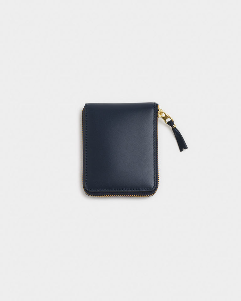 Classic Leather Line Wallet in Navy