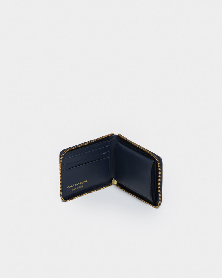 Classic Leather Line Wallet 7100 in Navy