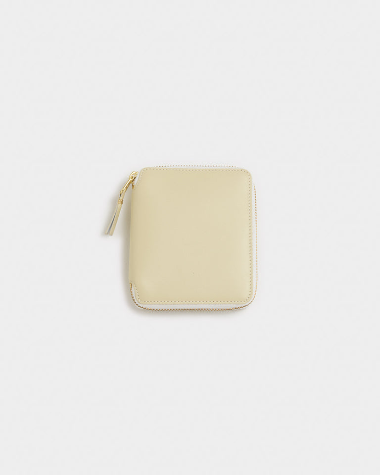 Classic Leather Line Wallet in Off White