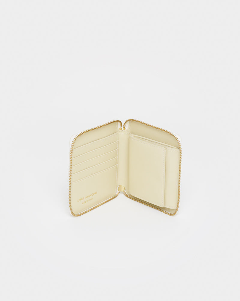 Classic Leather Line Wallet 2100 in Off White by Comme des Garçons Wallet at Mohawk General Store