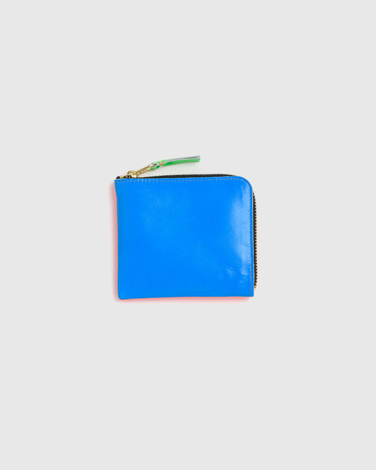 Super Fluorescent Leather Line Wallet 3100SF in Orange/Blue