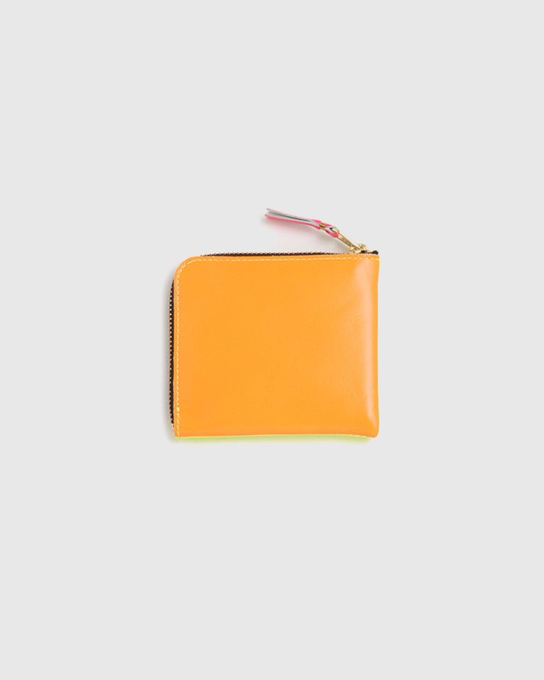 Super Fluorescent Leather Line Wallet 3100SF in Yellow / Orange