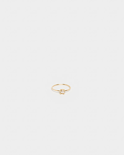 Herkimer Diamond Ring in 14k Gold