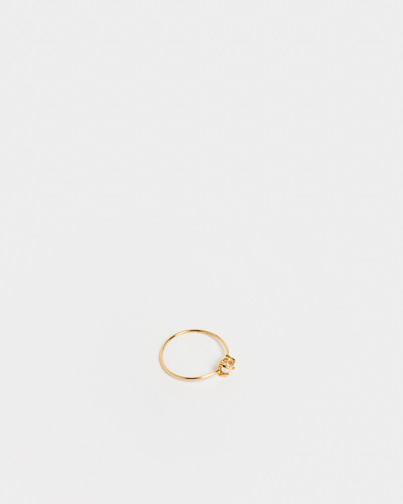Herkimer Diamond Ring in 14k Gold by Kristen Elspeth at Mohawk General Store