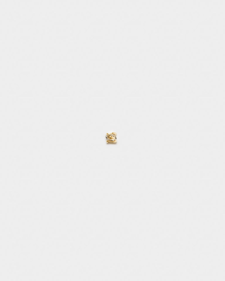 Herkimer Diamond Stud in 14k Gold
