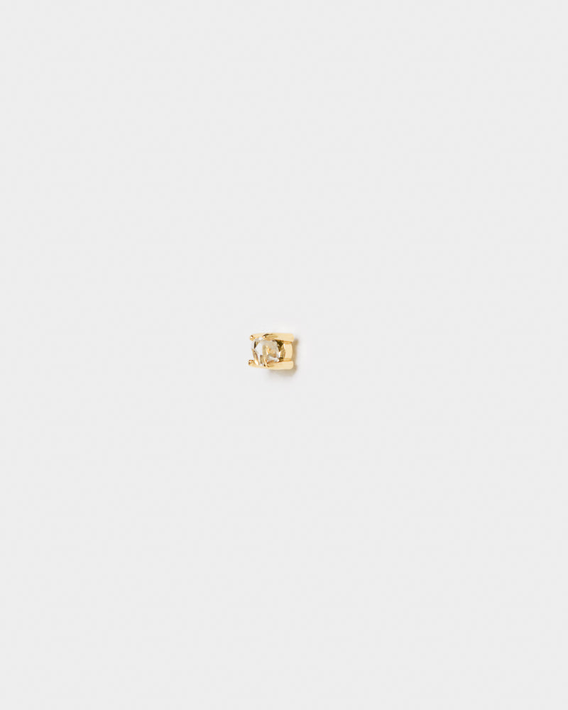 Herkimer Diamond Stud in 14k Gold by Kristen Elspeth at Mohawk General Store