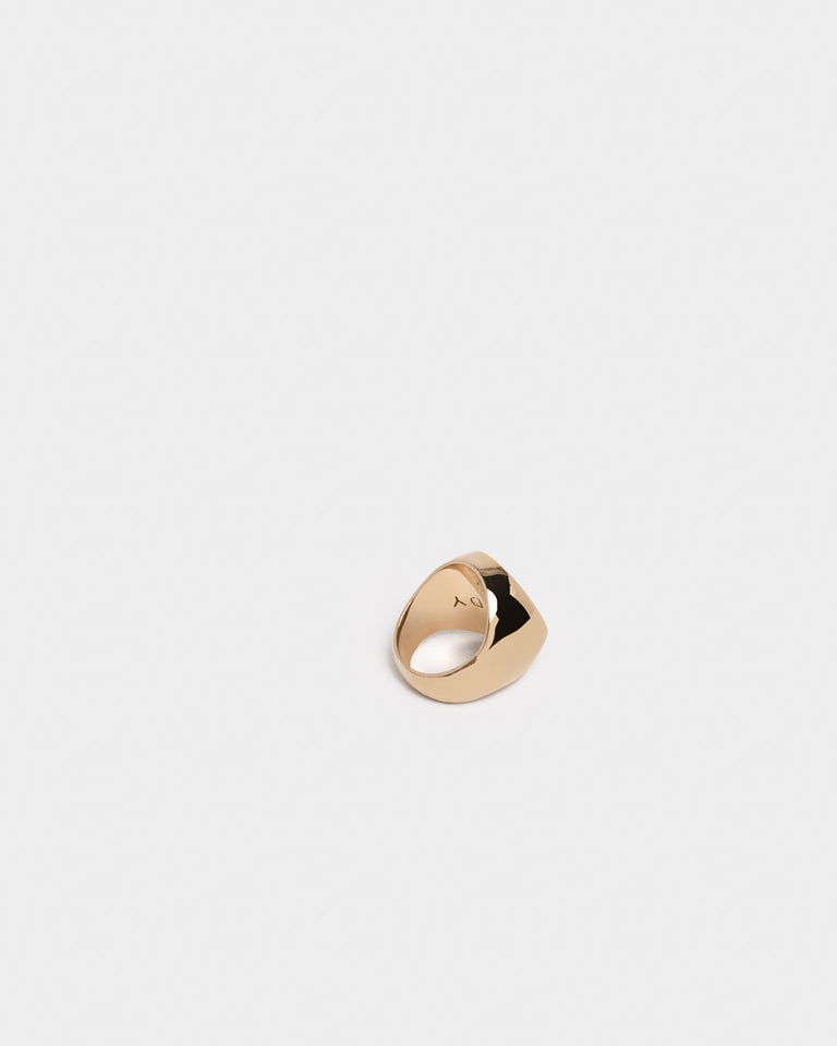 Heavy Signet Ring in Bronze