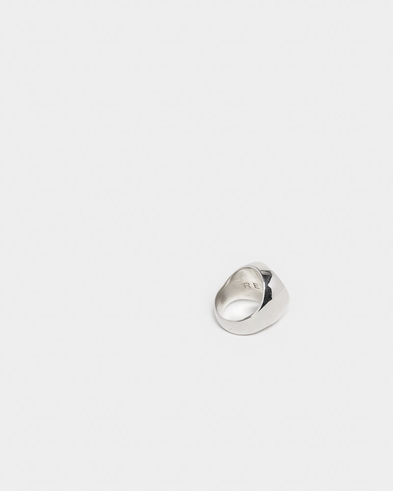 Heavy Signet Ring in Silver by Matt Ready at Mohawk General Store