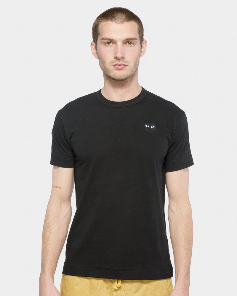 Black Heart T-Shirt in Black by Comme des Garçons PLAY at Mohawk General Store