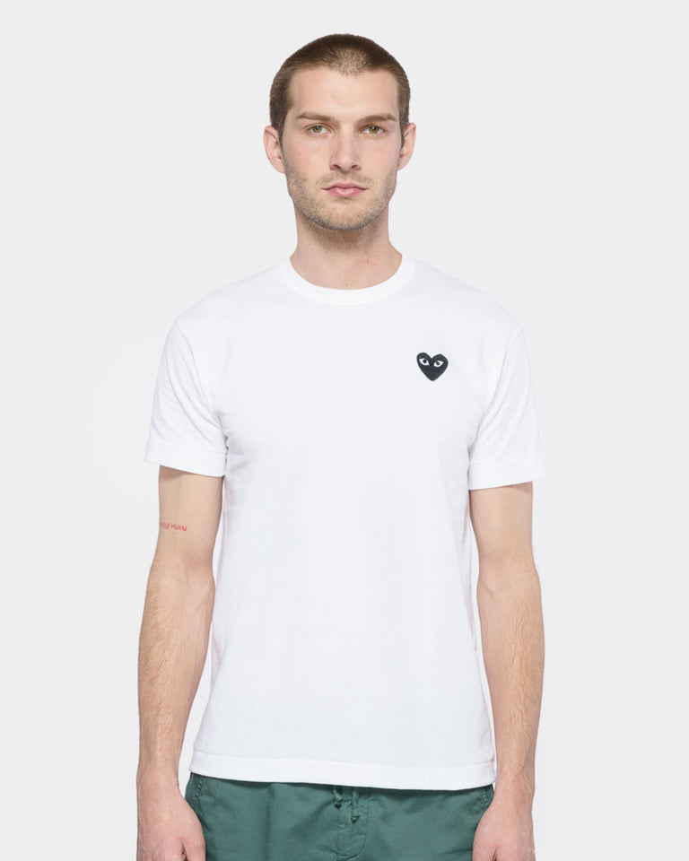 Black Heart T-Shirt in White