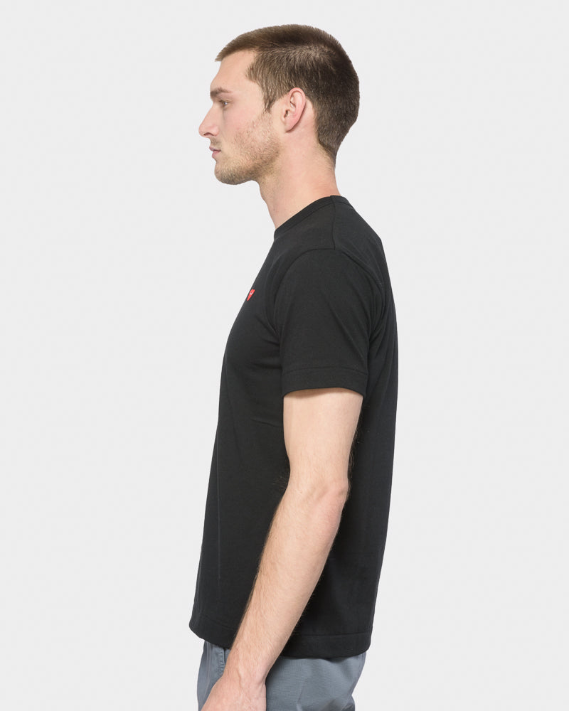 Red Heart T-Shirt in Black by Comme des Garçons PLAY- Mohawk General Store
