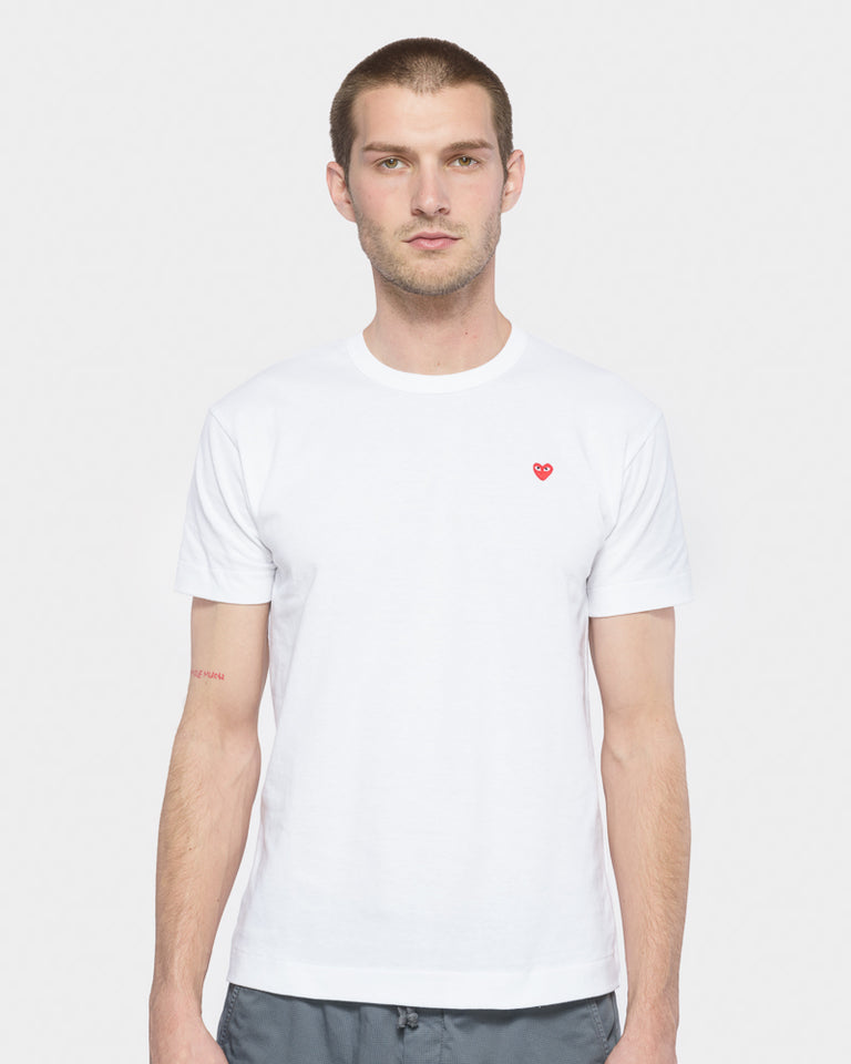 Red Heart T-Shirt in White
