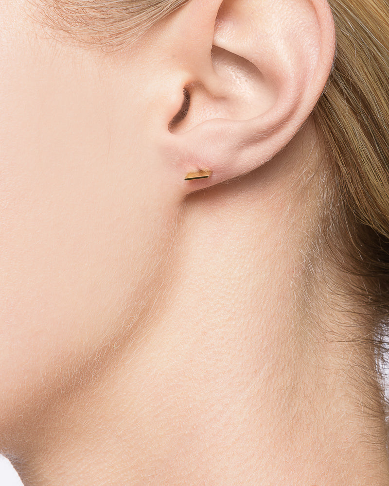 Blade Stud in 14k Gold by Kristen Elspeth at Mohawk General Store