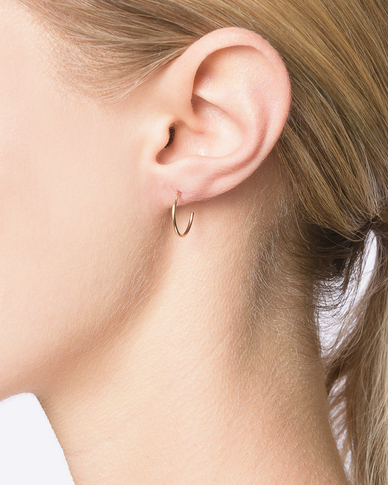 Small Thread Arc Hoops in 14k Gold by Kristen Elspeth- Mohawk General Store