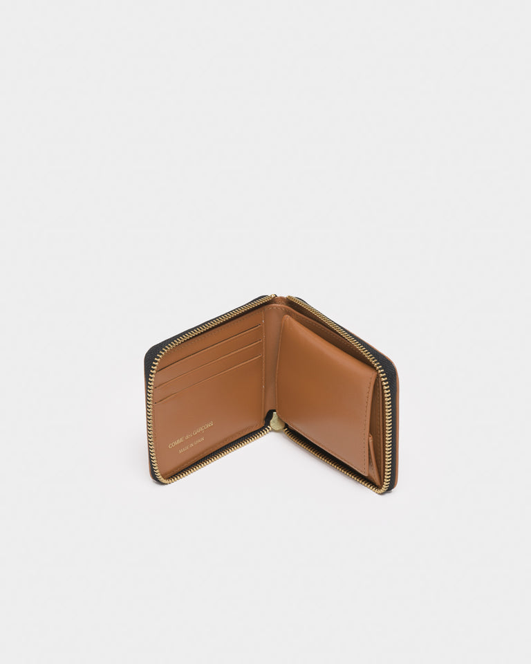 Brick Line Bifold Wallet in Beige
