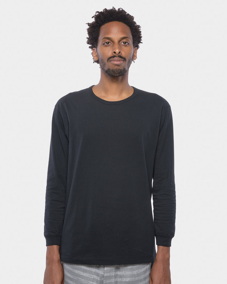 JK139 Long Sleeve Bio T-Shirt in Black