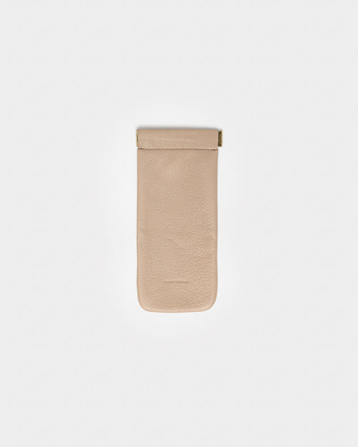 Soft Glass Case in Beige