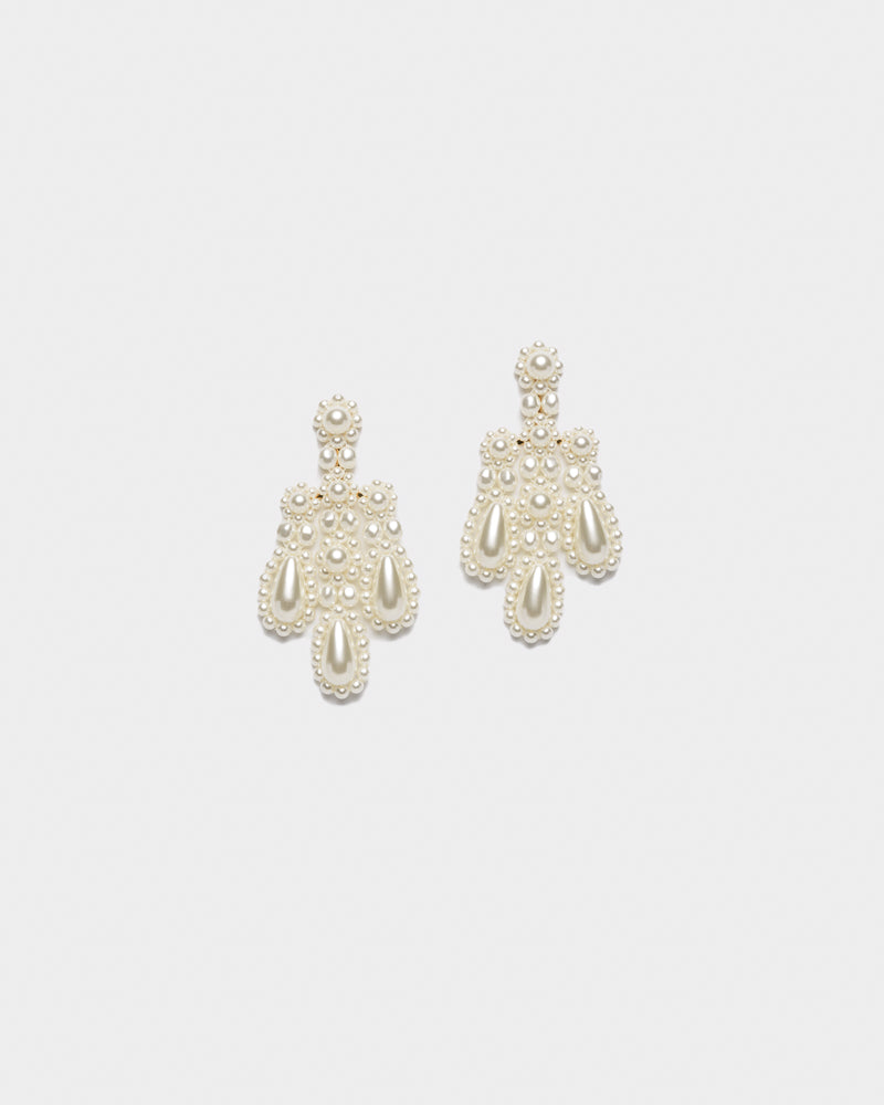 Chandelier Earrings in Pearl by Simone Rocha at Mohawk General Store