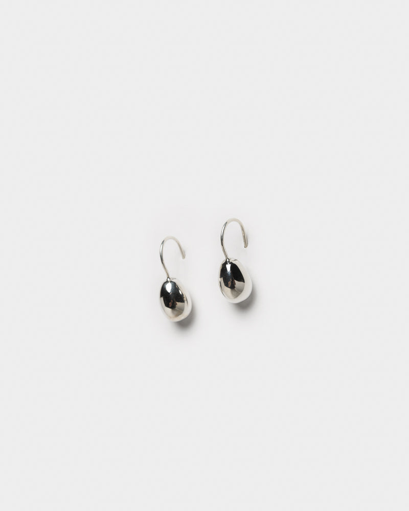 Petite Egg Drop Earrings in Sterling Silver