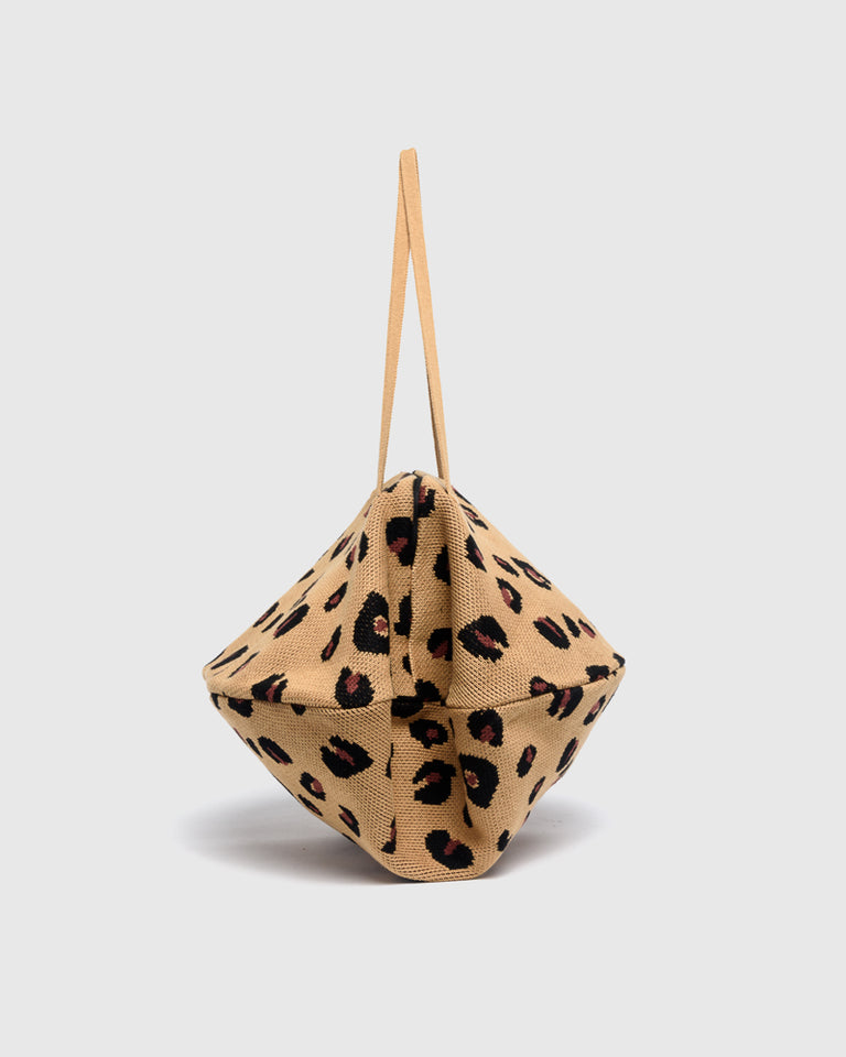 Cheetah Pita Bag in Camel