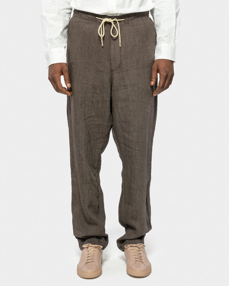 Amalfi Pant in Japan Linen Cacao by SMOCK Man at Mohawk General Store