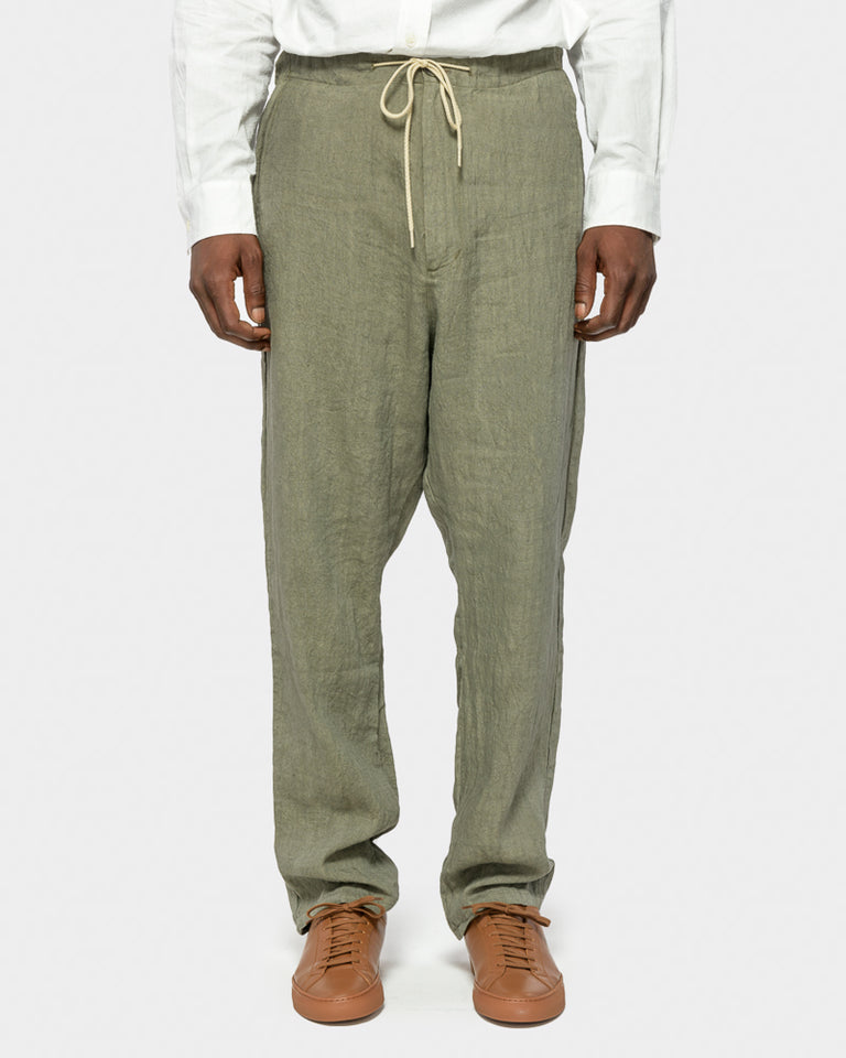Amalfi Pant in Japan Linen Olive