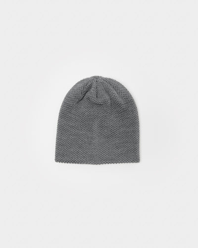 Bubble Beanie in Heather Grey