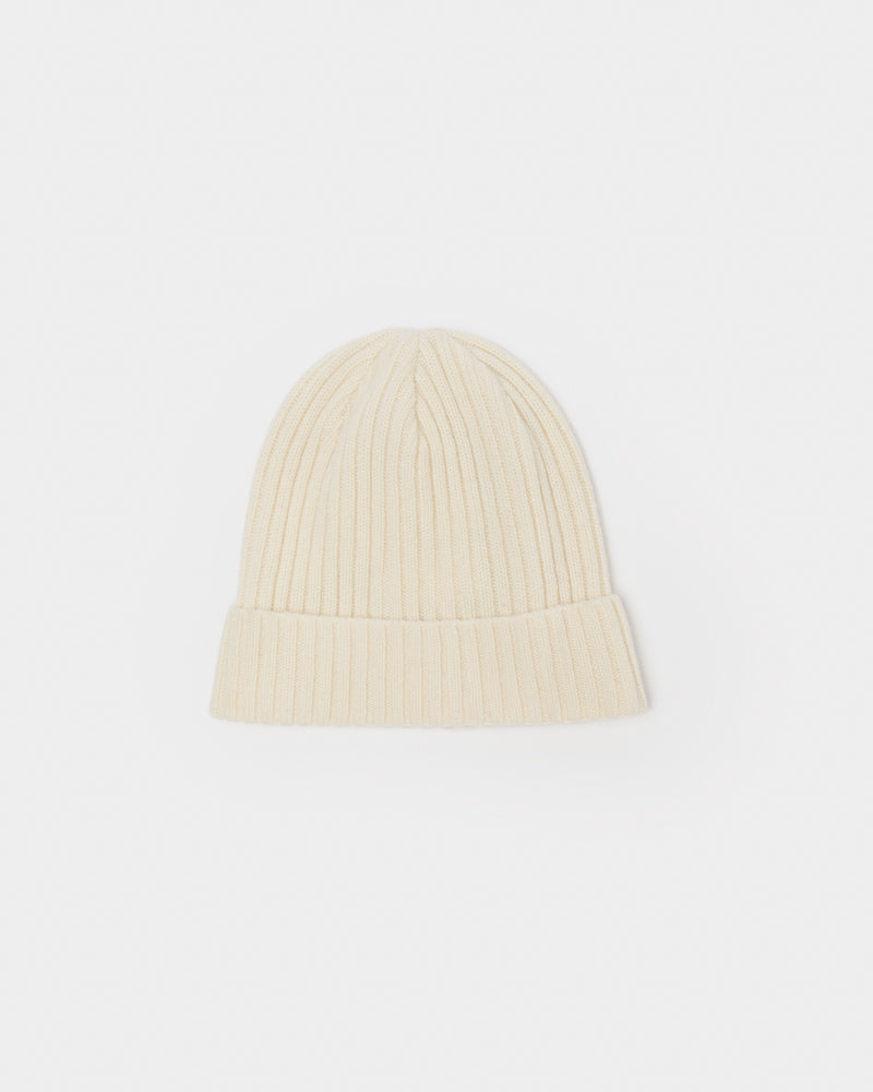 Cashmere Beanie in Creme by SMOCK Man at Mohawk General Store