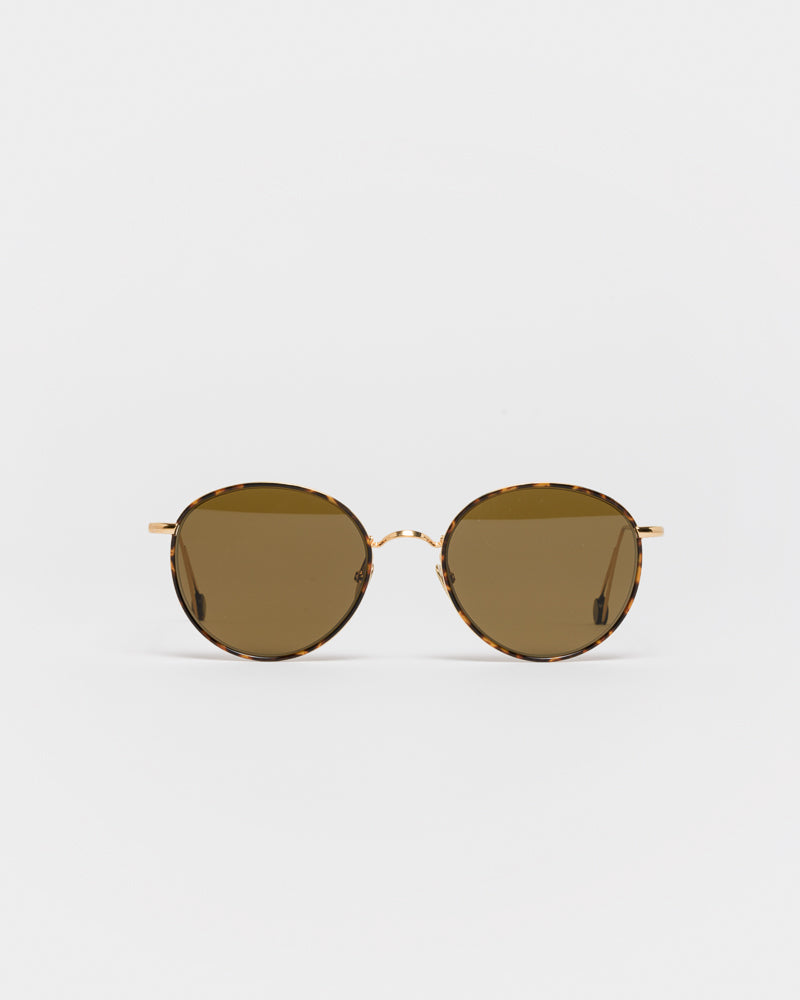 Madeleine Sunglasses in Champagne / Turtle Brown