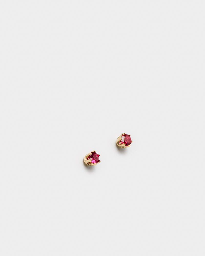 Stud Earrings in 14KY Ruby