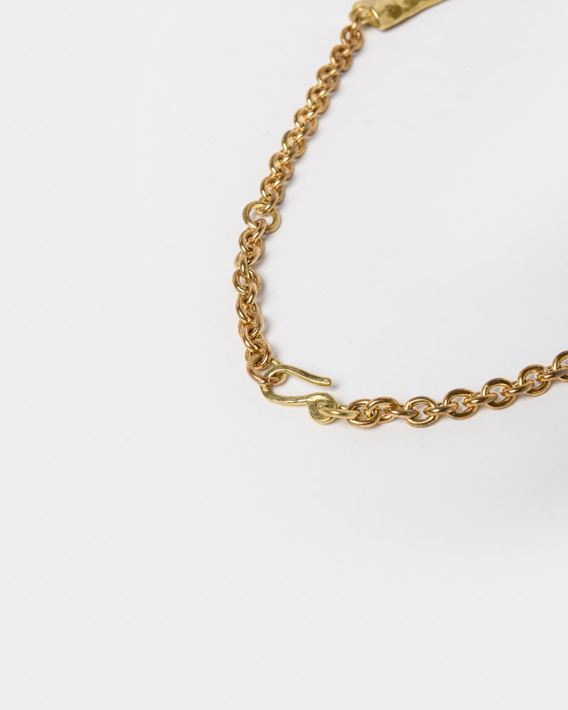 Isa Necklace in Brass