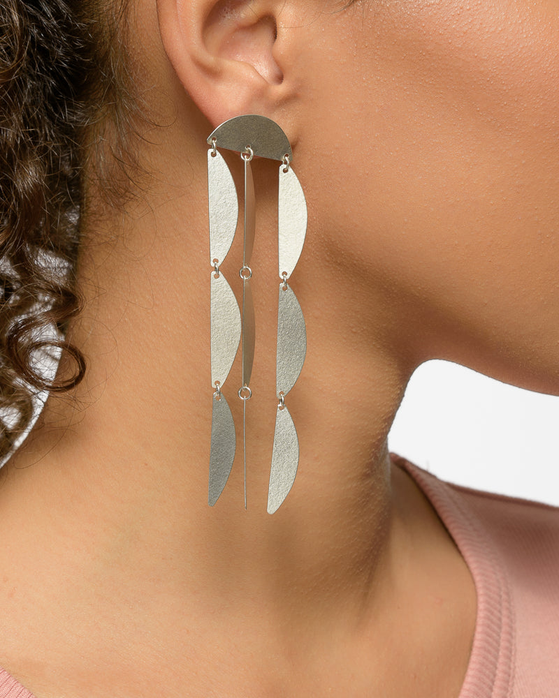 Mini Rain Earrings in Sterling Silver