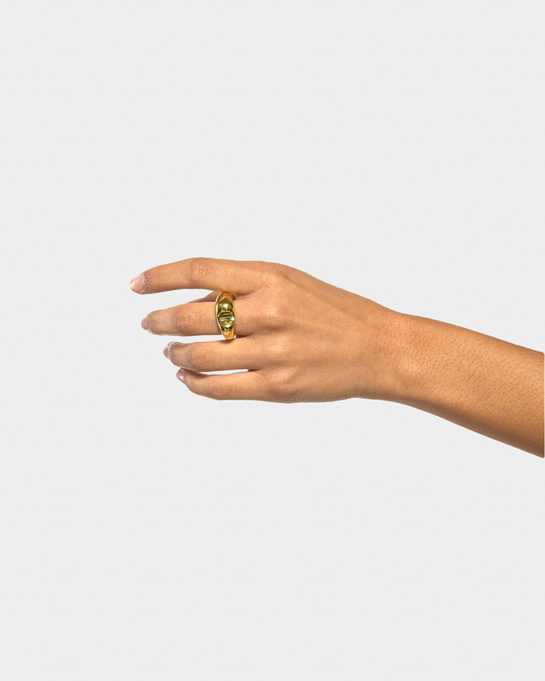 Bite Ring in Brass