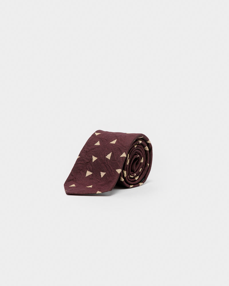 Triangle Tie in Burgundy