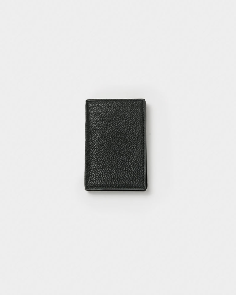 Leather Bifold Card Holder in Black