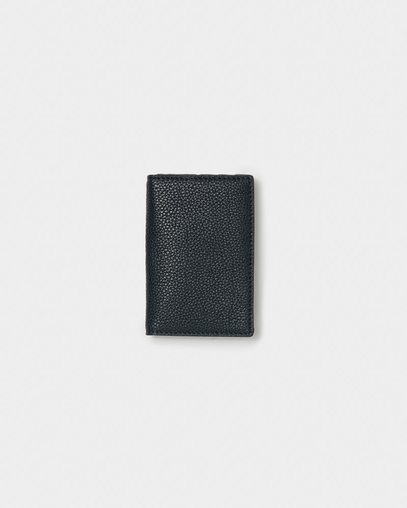 Leather Bifold Card Holder in Navy