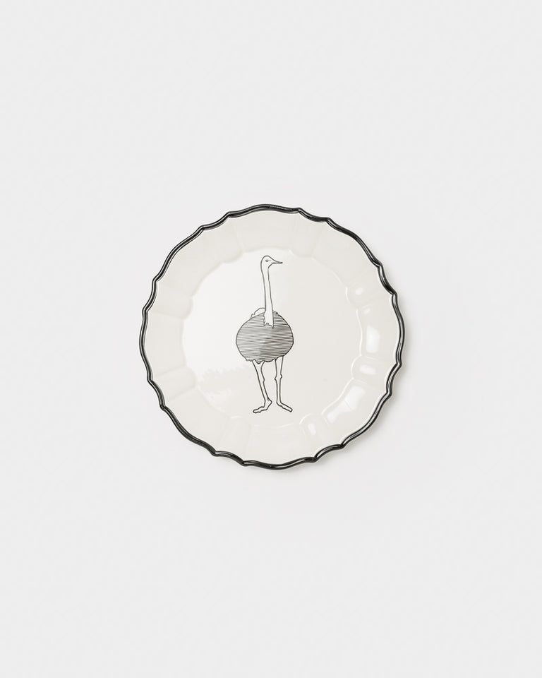 Ceramic Animal Plate #21 in Ostrich