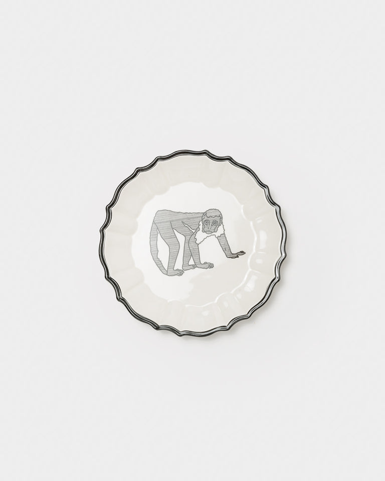 Ceramic Animal Plate #27 in Monkey