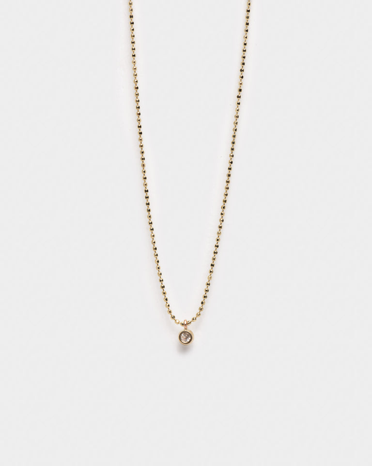 "Diamond Dust Necklace 18"" in 14KY Gold"