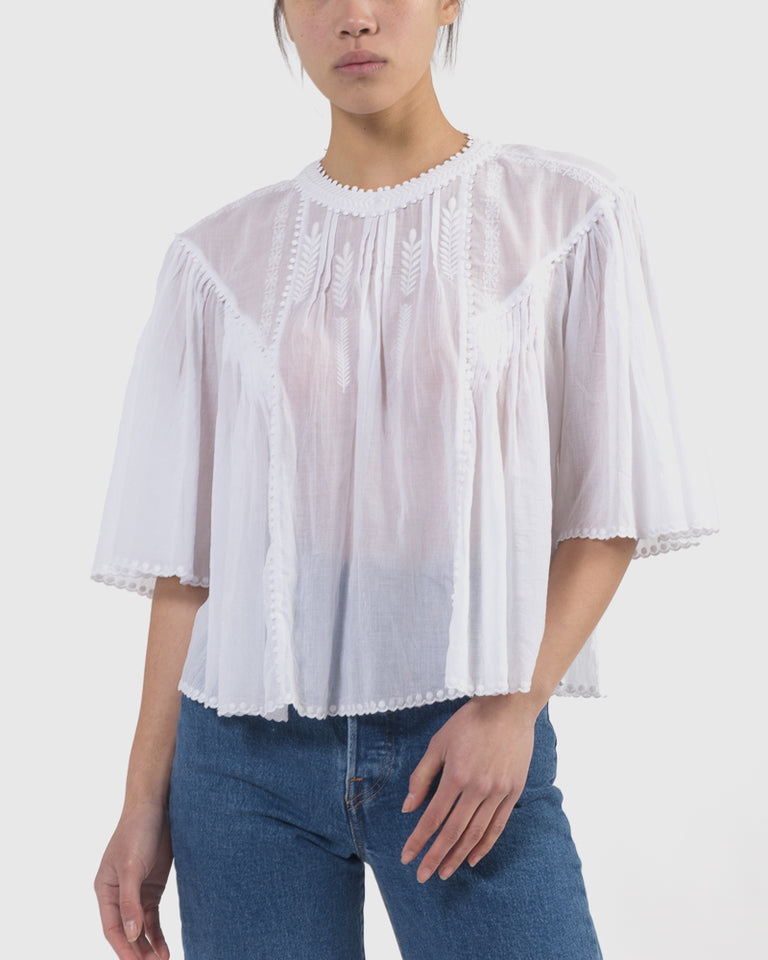 Algar Top in White