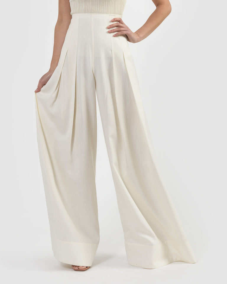La Pantalon Arcello in Off White