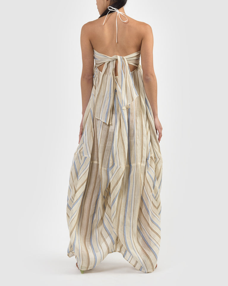 La Robe Calci in Beige Stripes