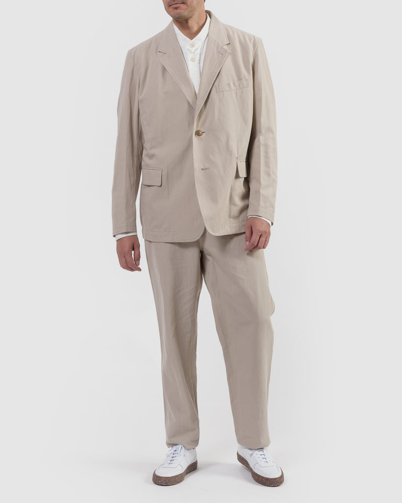 Gabardine Blazer in Taupe by Issey Miyake Man at Mohawk General Store