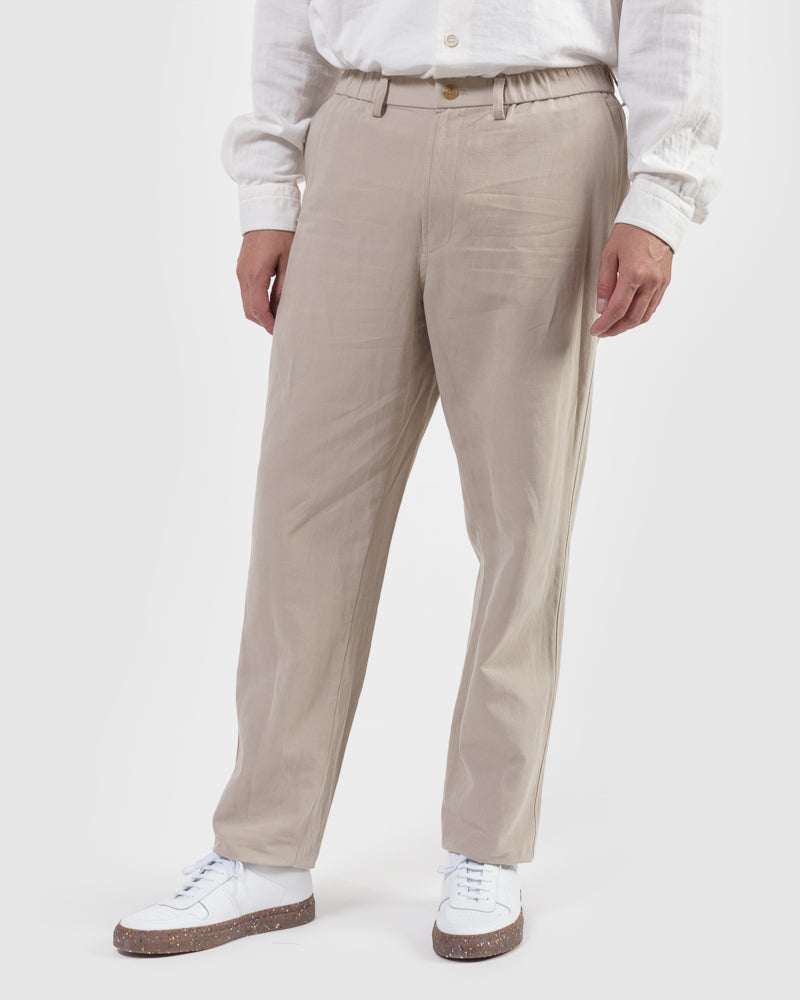 Gabardine Trousers in Taupe