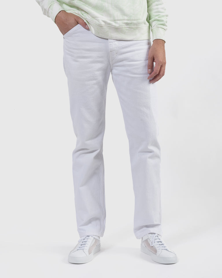 Five Pocket Pants in Off White