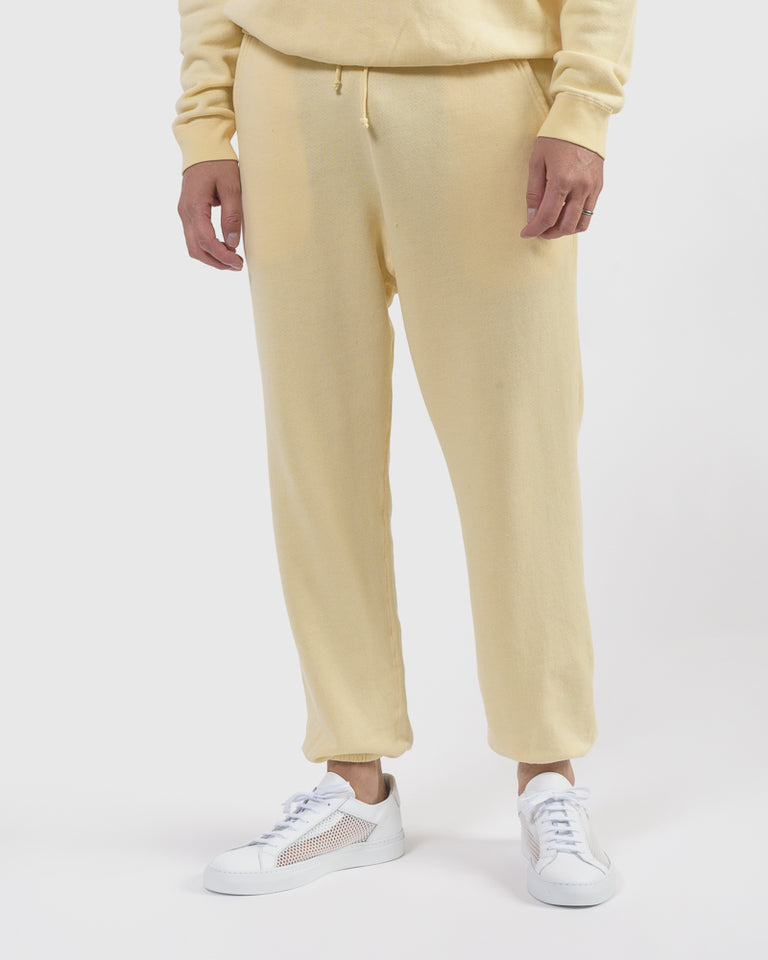 Vintage Fleece Sweats in Yellow