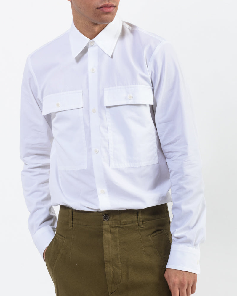 Castel Shirt in White by Dries Van Noten Man at Mohawk General Store