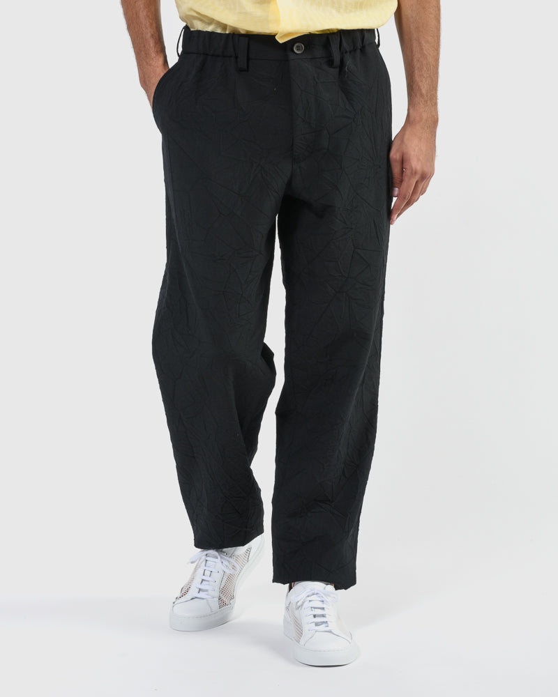 Crush Wool Pant in Black by Issey Miyake Man at Mohawk General Store