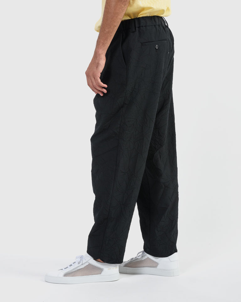 Crush Wool Pant in Black