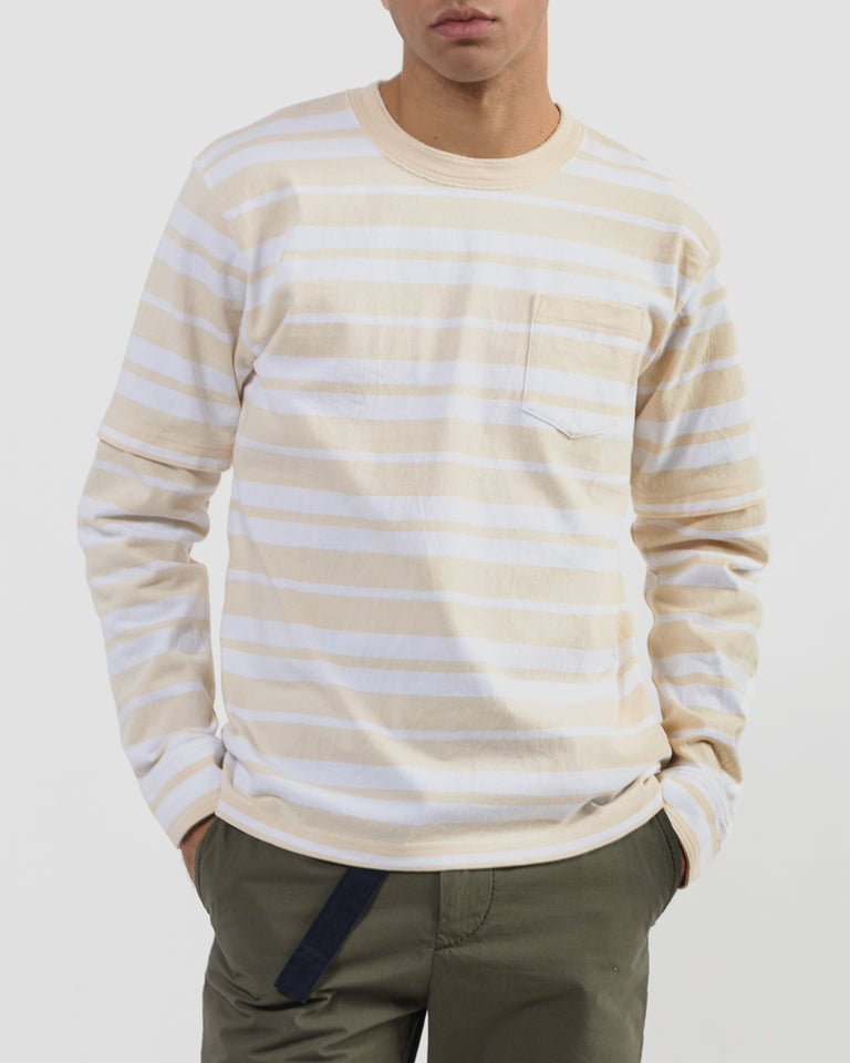 Dixie Stripe T-Shirt in Ecru